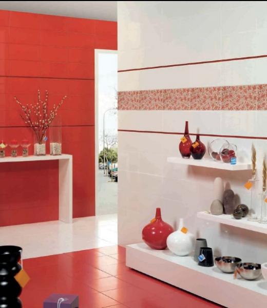Azulejos Baños Agatha Ruiz Dela Prada:Revestimiento ceramico serie Liberty de Saga